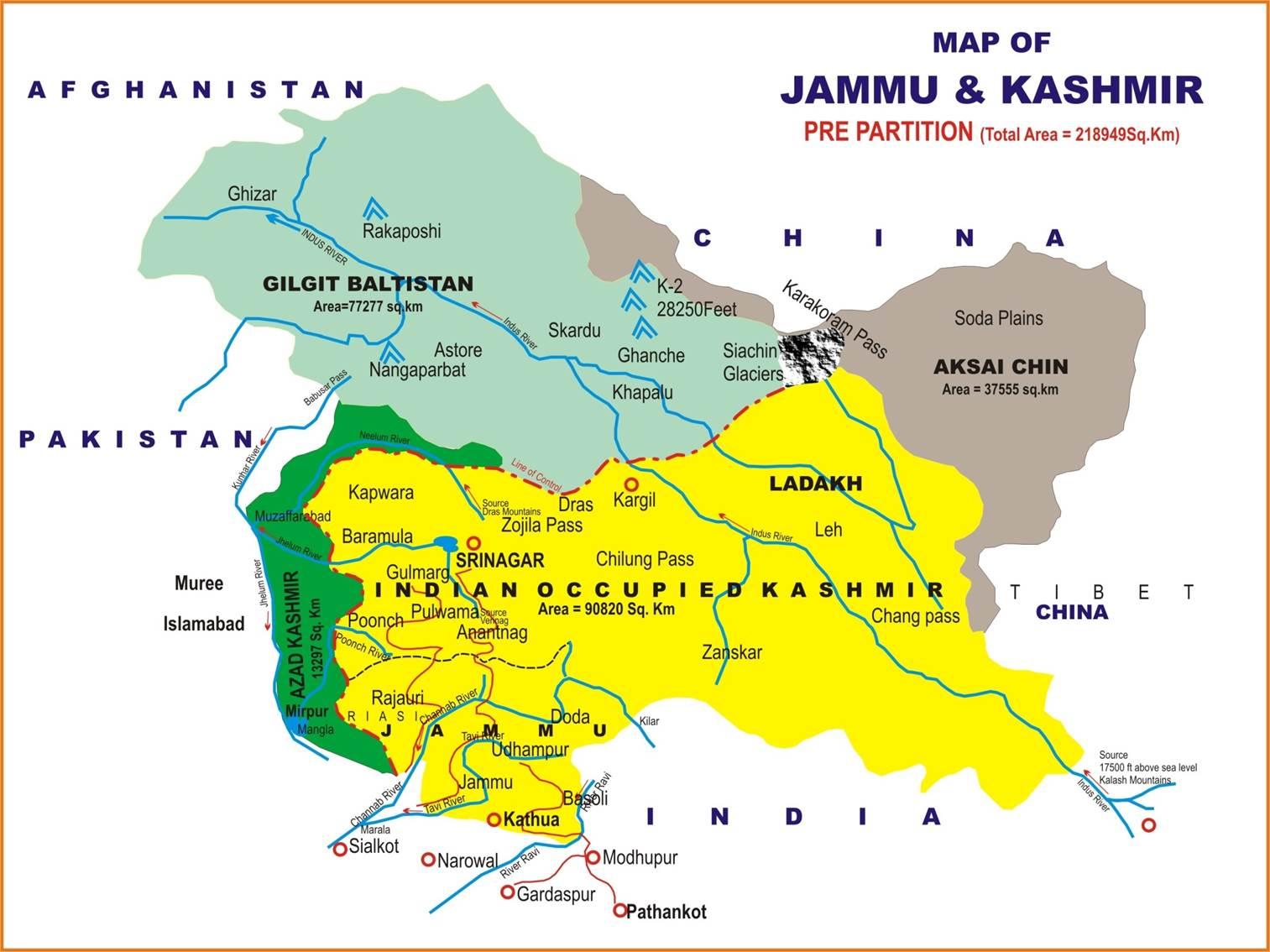 Kashmir On World Map.Planning Development Department